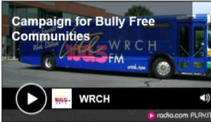 Click the image to visit WRCH's Spotlight with Mary Scanlon and listen to the interview about the Campaign for Bully-free Communities
