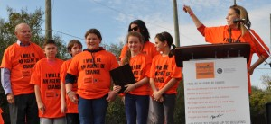 Chester Elementary School (Chester) students accept the 2015 Bully Free Communities Spotlight Award